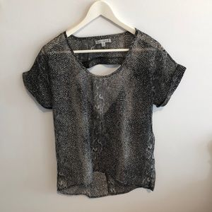 Light snake print blouse
